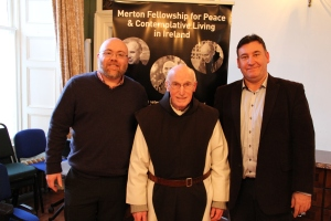 Rev. Dr. Scott Peddie (Merton Fellowship), Br. Columba O'Neill OCSO (Bethlehem Abbey, Portglenone) & Dr. Stephen Costello (Viktor Frankl Institute of Ireland)
